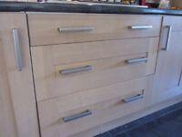 Solid wood kitchen cupboard doors