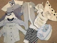 Baby boy clothing bundle, size 0-3 months