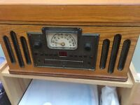 Radio, CD and record player,