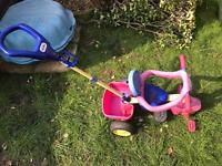 Little tikes trike / tricycle blue red