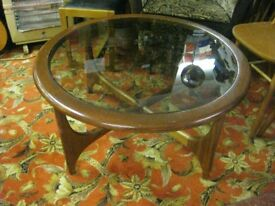 VINTAGE 70s ROUND G PLAN ASTRO FRESCO STYLE COFFEE TABLE
