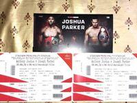 *FACE VALUE * 6X Anthony Joshua vs Joseph Parker Tickets