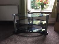 Glass TV stand £25