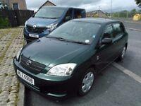 Toyota corolla 2004 vvti 1.4 petrol