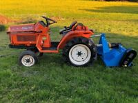Kubota B1-15 2WD Compact Tractor with New 4ft Flail Mower