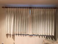 High Quality, Light Cream, Triple Pinch Pleat, Fully Lined Curtains