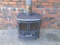 morso wood burner with backboiler