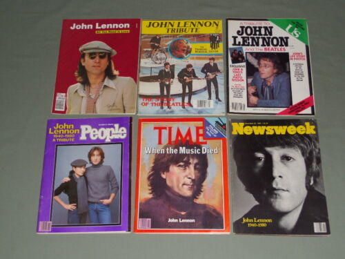 6 Vintage 1980 John Lennon Death Tribute Magazines Time Newsweek US People