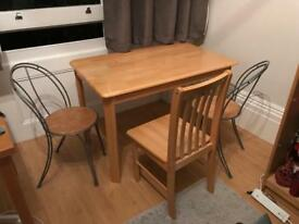 Set table + 3chairs - negotiable price for quick collection