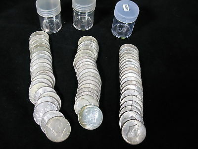 KENNEDY HALVES-1965 to 1969 40% SILVER CLAD GROUP