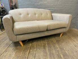 GREY FABRIC DESIGNER SOFA IN NICE CONDITION