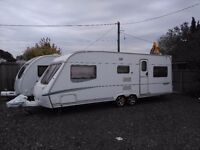2006 Abbey Spectrum 620 twin axle / 5 berth touring caravan with fixed bunks