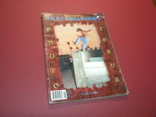 TRANSWORLD SKATEBOARDING magazine 1996 August SKATEBOARD