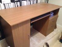 Oak Effect Desk - Excellent Condition
