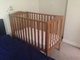John Lewis Mika Lotta cot and mothercare mattress