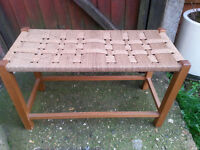 Rustic seating bench - ideal for hallway, space saving seat in the kitchen or conservatory