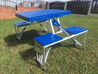 Camping / picnic table. 4 Seat. Fold Up. Good Condition