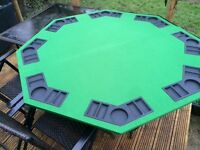 Poker table. Foldable sits 8
