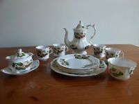 Royal Worcester Spoke Bone China - Hammersley - Strawberry Coffee Set