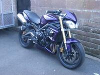 triumph street triple cat b (track bike)