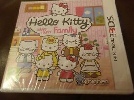 New Sealed Nintendo 3DS Game Hello Kitty Happy Happy Family £5 ideal gift