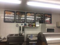 Fish and chip shop for sale in Sandbach, Crewe. Weekly turnover £2000/£2500. Annual rent £12000