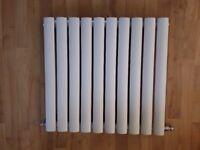 Radiator: White Oval Horizontal Column 550mm x 590mm