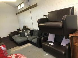 X2 new pvc leather sofas