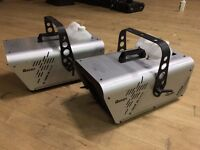 2 x Antari S-100 ii DMX Snow Machines with 4 x litres of new Snow Fluid. Some Fluid already in units