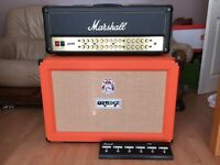 Marshall JVM410HJS 100W Head Amplifier with Orange PPC212 Closed Back Cab (AS NEW)