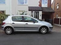 Silver 5 door Peugeot 307 1.4 hdi for sale low tax £30