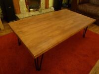 Industrial Coffee Table - Upcycled Reclaimed Scaffold Board