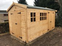 14x7FT HEAVY DUTY APEX GARDEN STORAGE TIMBER T&G SHED.
