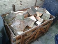 Cage Of Firewood Logs.
