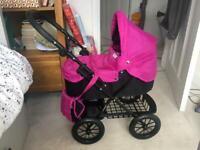Pink Mamas & Papas kids Toy Pram