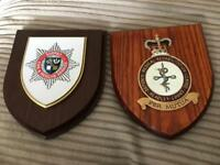 2 x Wooden wall plaques