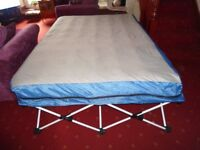 Air bed cocertina with wheeled case