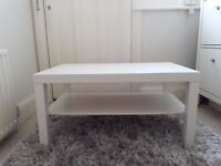 White wooden coffee table for sale, great condition, £10. Collection from Beckenham
