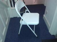 Macadam white folding chairs (Habitat)