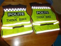 Polite Think Bike Hi vis motorbike waistcoat
