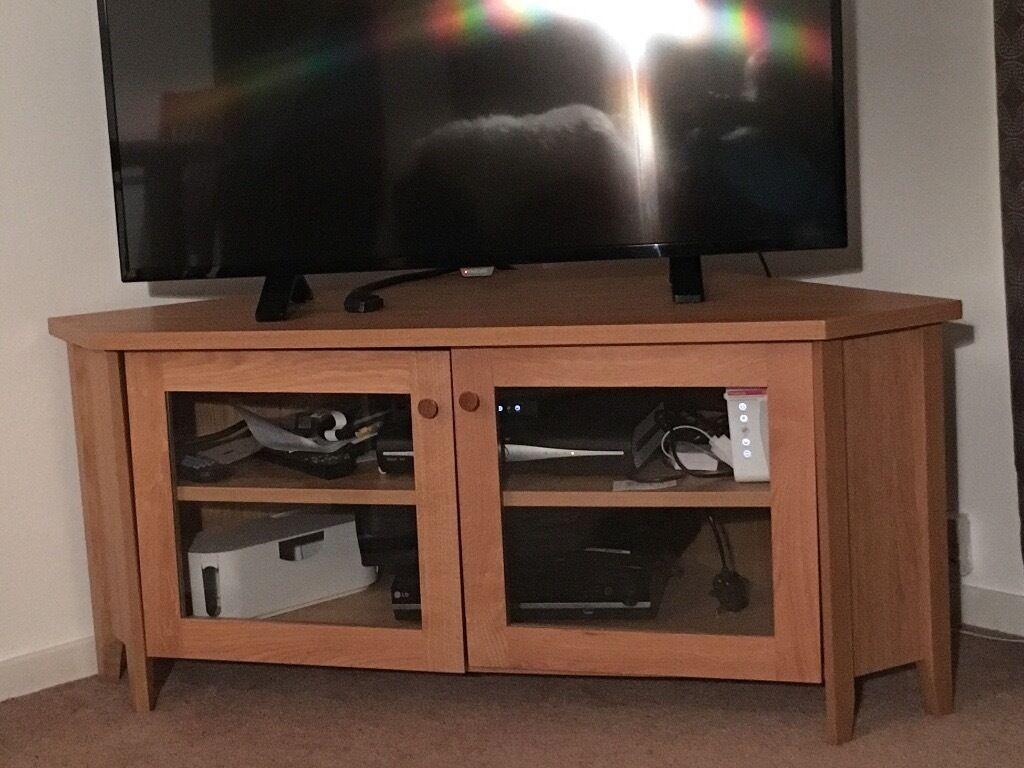 Tv Cabinet In Oak Ikea Skoghall Corner Stand