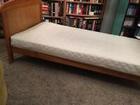 Toddler bed with spring mattress