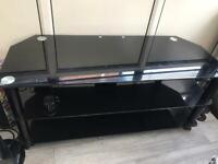 """Black glass tv stand for 50"""""""