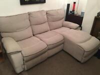 Corner sofa recliner