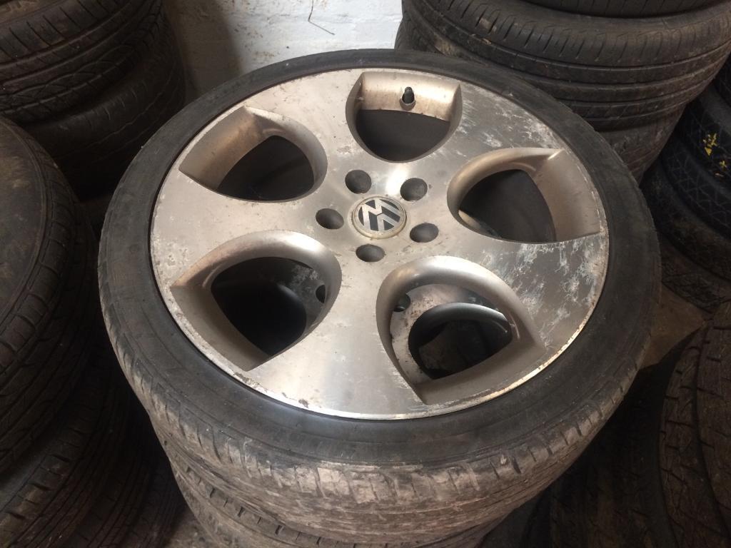 "Vw golf gti 18"" alloywheels 225/40/18 with tyres vw caddy Passat Jetta"