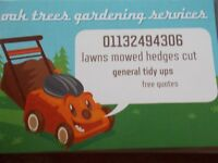 lawns mowed hedges cut overgrown gardens drive patio cleaning general garden tidy ups