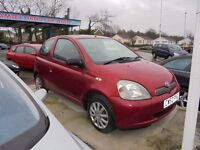 TOYOTA YARIS 998cc VVTI COLOUR COLLECTION 3 DOOR HATCH 2003-52 LOOK ONLY 86K FROM NEW
