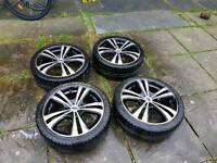 "Team dynamic alloys 17"" 4x100 Falken tyres"