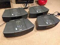 Lot of 4 Bose Wave Radios Partially Working for Repair