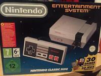 New and unused Nintendo NES Mini